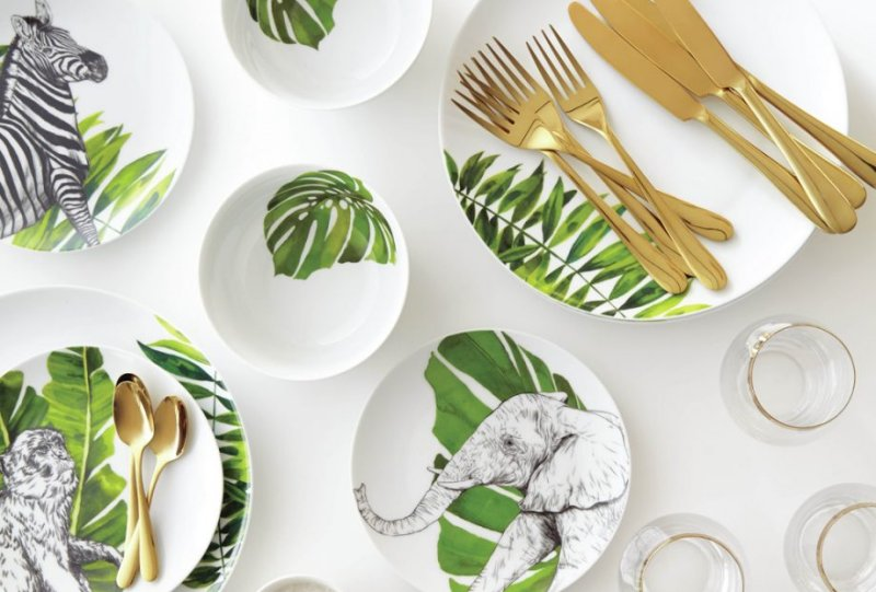 home-trends-2018-tropical-print-plates